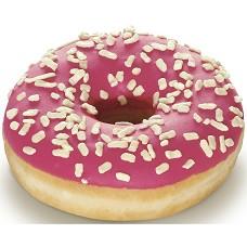Donut s jahodovou polevou 58g