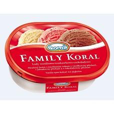 Family Koral vanilka+čokoláda+jahoda  750ml