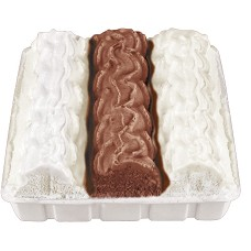 Polárkový dort čok.+van.