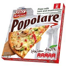 Pizza Popolare šunka+žampiny , tenké těsto 315g