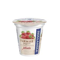 Jogurt krémový Farmářek jahoda 125g