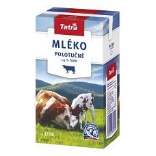Tatra Mléko polotučné       1,5%       1litr